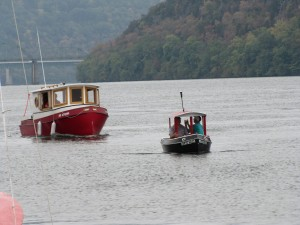Large and small tug boats
