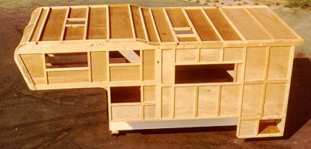 Cabover camper construction photos 3 for Cabover house plans