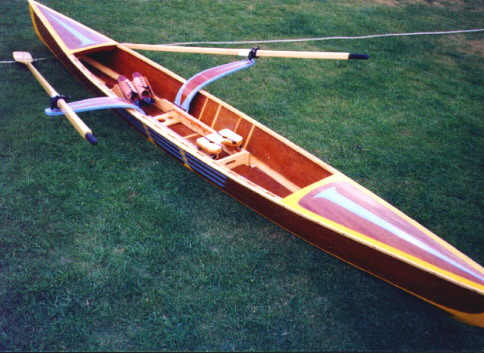 17' Sculling Skiff - recreational rowing shell-boatdesign