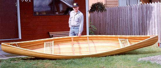 STRIPPER is a ribless canoe made from narrow wood strips, covered with ...
