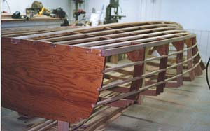 Fig 3 Stringers Longitudinals Are Notched Into Frames And Wrapped Around The Hull To Support Stiffen Planking Provide Backing At