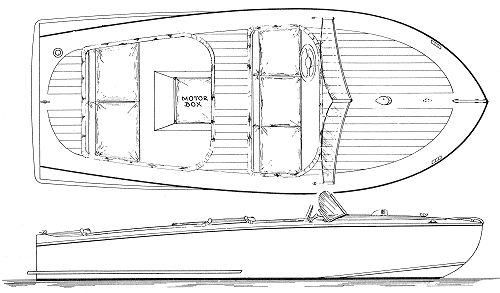 Ski King inboard plywood speed boat plans