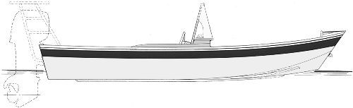 outboard motor garvey flats hull boat plans
