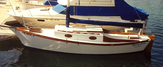 21' Fancy Free - gaff rigged sharpie-boatdesign