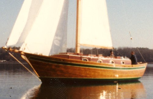 Lord Nelson, a 33' world cruising sailboat