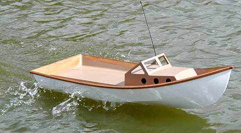 RC Model X-1 boat plans for plywood construction