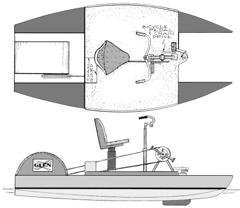 Pedal boat plans for stitch and glue plywood construction