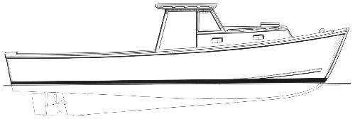 33' Pot Luck - lobster boat-boatdesign