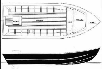 power fishing dory boat plans