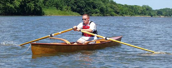 Woodworking project: Sculling Skiff boat plans pic570a