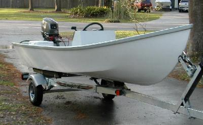 Power Skiff 14 stitch and glue boat plans 281b