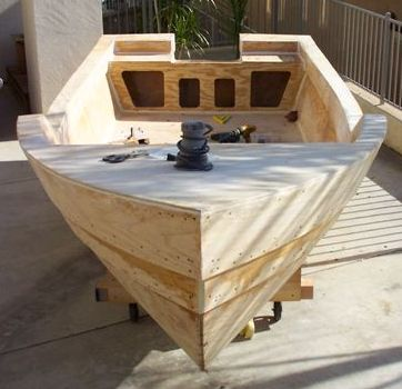 Console Skiff stitch and glue boat plans pic485a