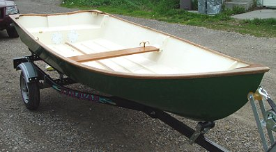 Power Skiff stitch and glue boat plans pic508a