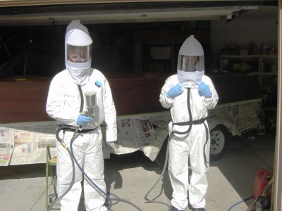 On The Mark Spraying Clear 2 Part Polyurethane S