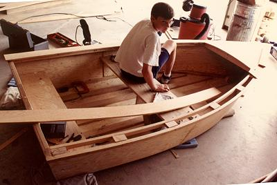 Imp A 9 39 9 Flat Bottom Rowboat Construction Pictorial 3